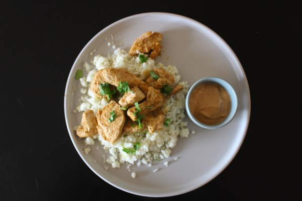 Whole30 Chicken Almond Butter Satay Coconut Cauliflower Rice
