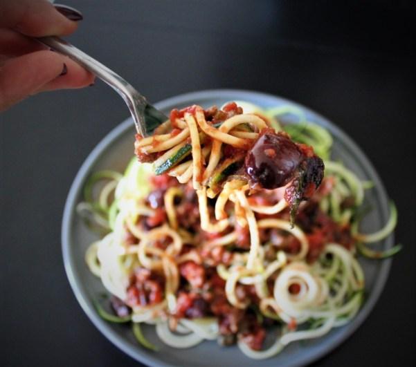 Whole30 Spaghetti Puttanesca