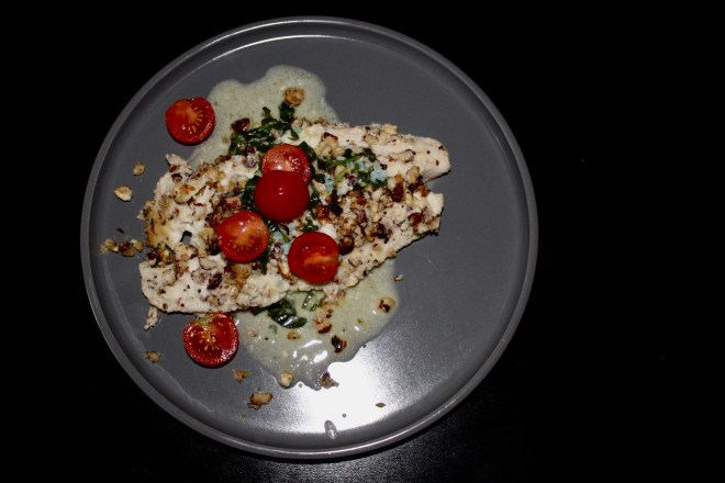 Resolutions and Goals - Whole30 Hazelnut Crusted Tilapia with Lemon Butter Sauce