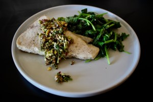 Nagging Tasks and Whole30 Swordfish with Pistachio Gremolata