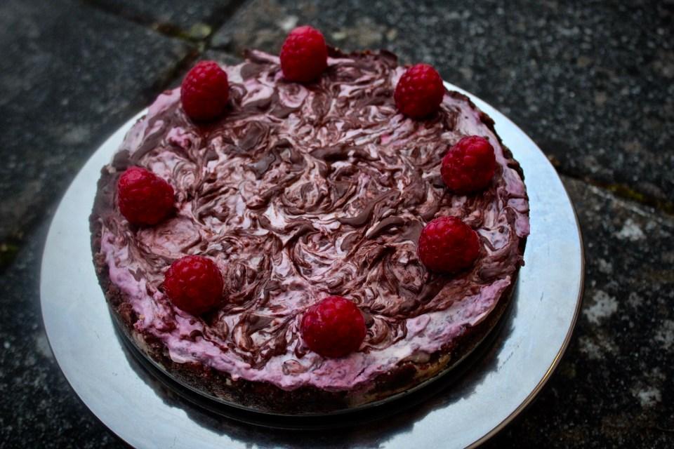 Sister - Paleo Chocolate Raspberry Cheesecake