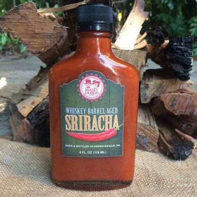 best hot sauce, rye-whiskey-barrel-aged-sriracha-barrel-aged-creations-hot-sauce-whiskey-sriracha-barrel-aged-whiskey-inspired-sriracha-gourmet-food-tag-leaf-wedding-favor-gift-flight-bottle