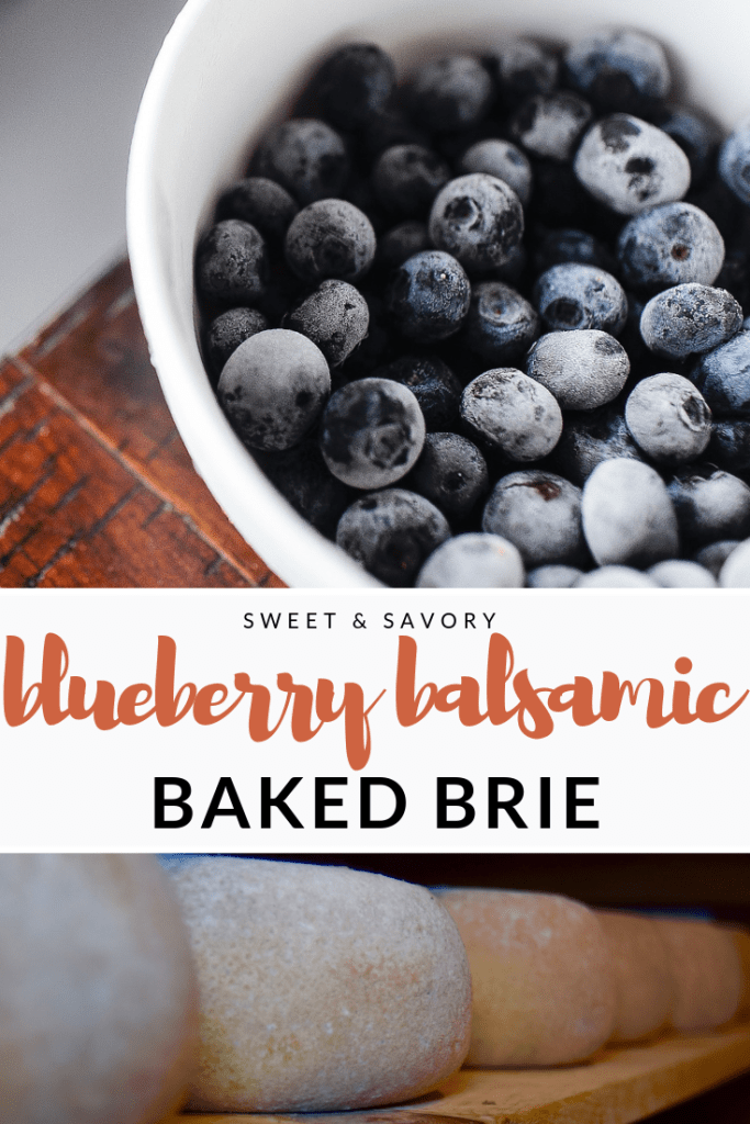 sweet and savory, blueberry balsamic baked brie, bourbon maple, bourbon balsamic, blueberries, brie cheese, cheese, recipe, holiday cooking, holiday recipe, barrel aged creations, cooking with balsamic vinegar, using balsamic
