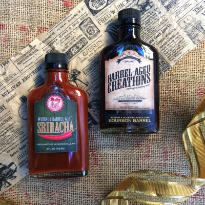sweet heat gift set, bourbon barrel aged maple syrup, whiskey barrel aged sriracha, bourbon maple, whiskey sriracha, maple bourbon, finishing sauce, cooking, foodie, gift, gift ideas, gifts for guys, gifts for men, bourbon syrup, sweet and spicy