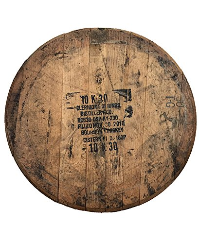 bourbon barrel head wall art, barrel aged creations, bourbon inspired gifts for him
