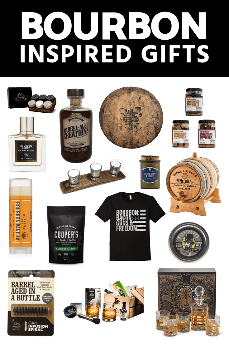 bourbon inspired gifts for men, barrel aged creations