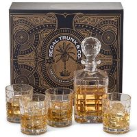 bourbon decanter set, barrel aged creations, bourbon inspired gifts for him