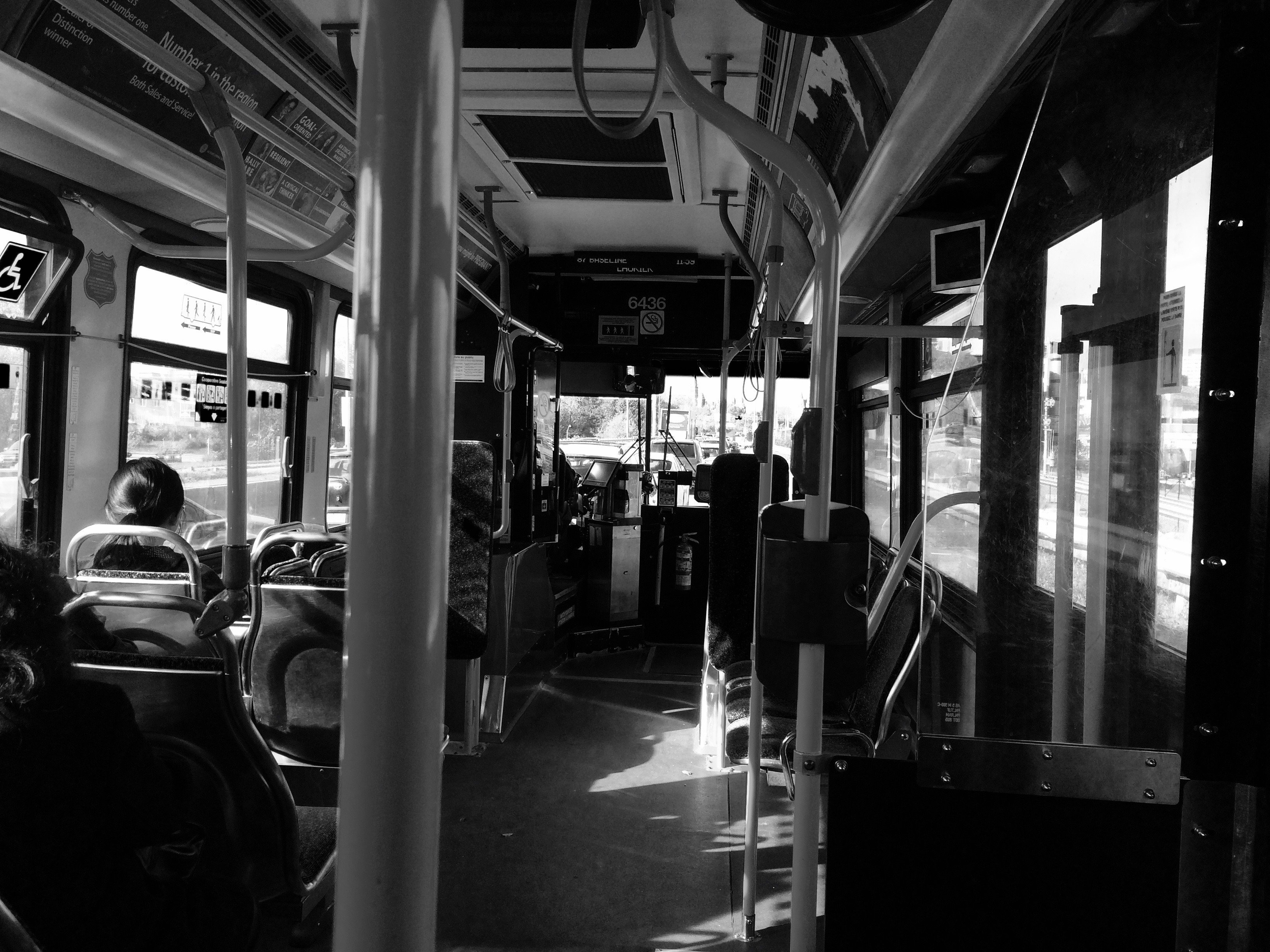 Bus through Dubuque, Iowa