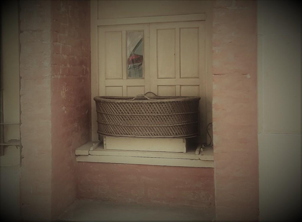 basket outside or