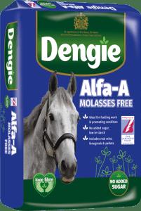 Bag of Alfa A molasses free horse feed