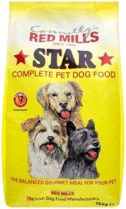 Bag of Red mills Star dog food