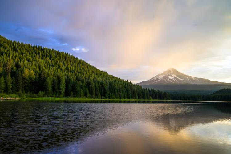 Mount Hood viewed from Lost Lake in Oregon.