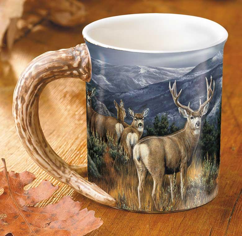 Barrier Bay Resort Gift Mug _ Mule Deer