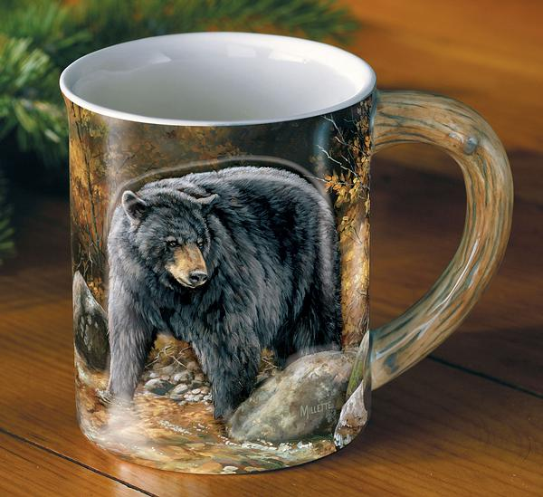 Barrier Bay Resort Gift Mug - Autumn Stream Bear Mug