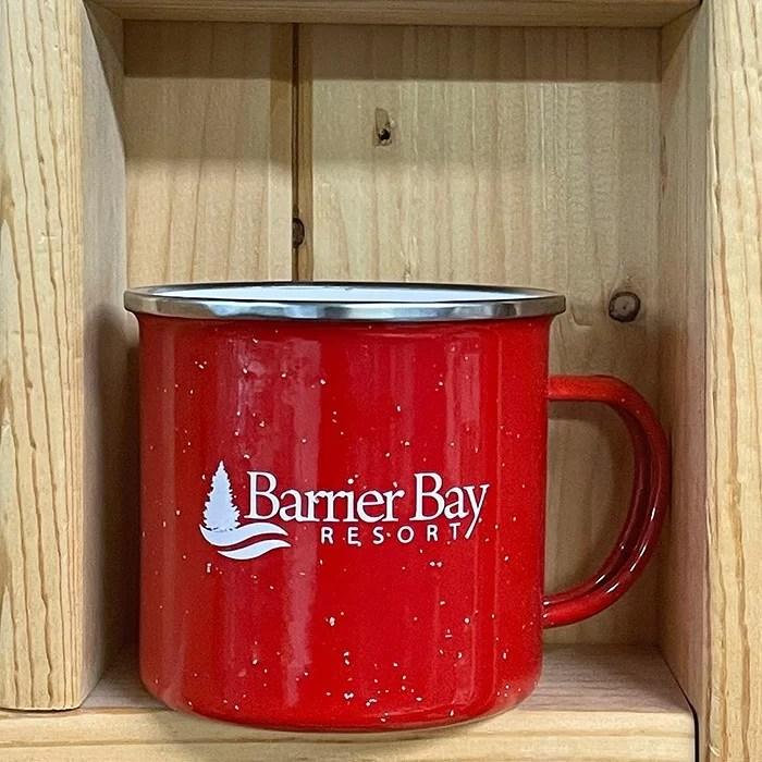 Barrier Bay Resort Red Camping Mug