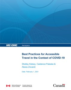 Cover of the Best Practices for Accessible Travel During COVID-19 Manual.