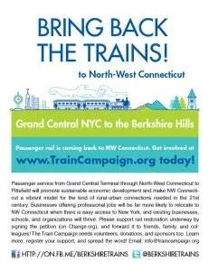 Barrington Institute Train Campaign 2014 Flyer