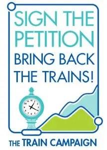 Barrington Institute Train Campaign 2014 petition button