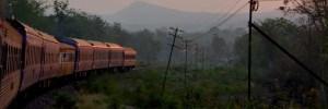 Train on journey