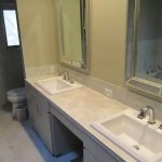 Bath remodel with porcelain sinks