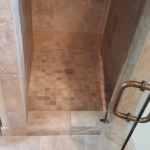 Bathroom remodel with porcelain tile