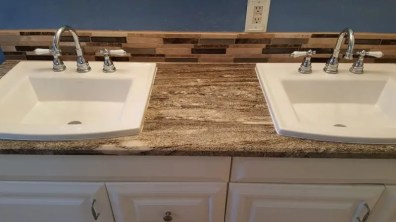 Bathroom remodeling counter top, sinks