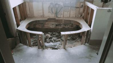 Before clawfoot tub remodel