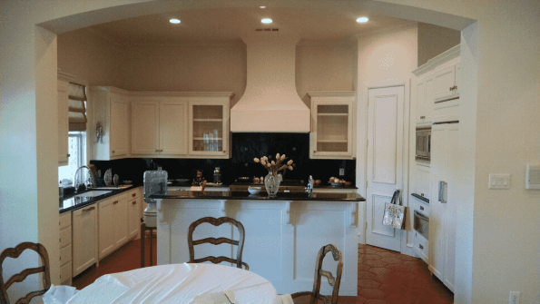 Kitchen remodeling cabinet install and painting