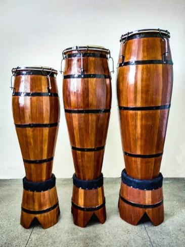 """a trio of """"atabaque drums"""