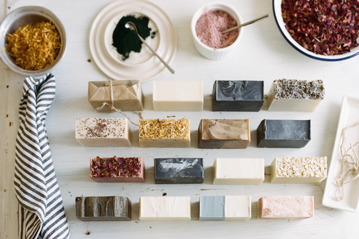 Most of the ingredients in No Tox Life soaps are food-grade natural botanicals, powders & oils.