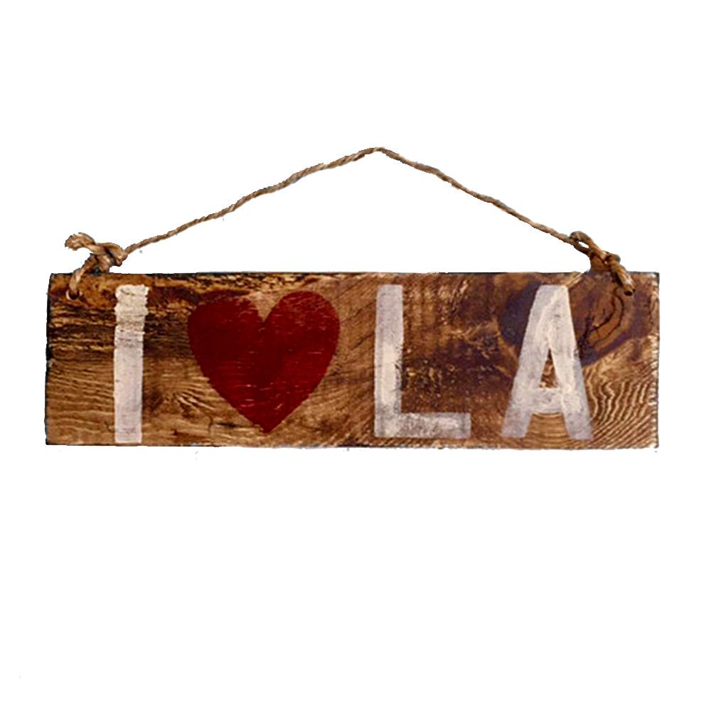 i love la sign hollywood & twine I heart la wood sign