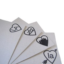 i love LA note cards by Ink+Smog Editions