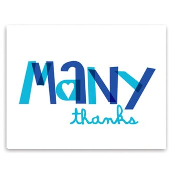 many thanks card set