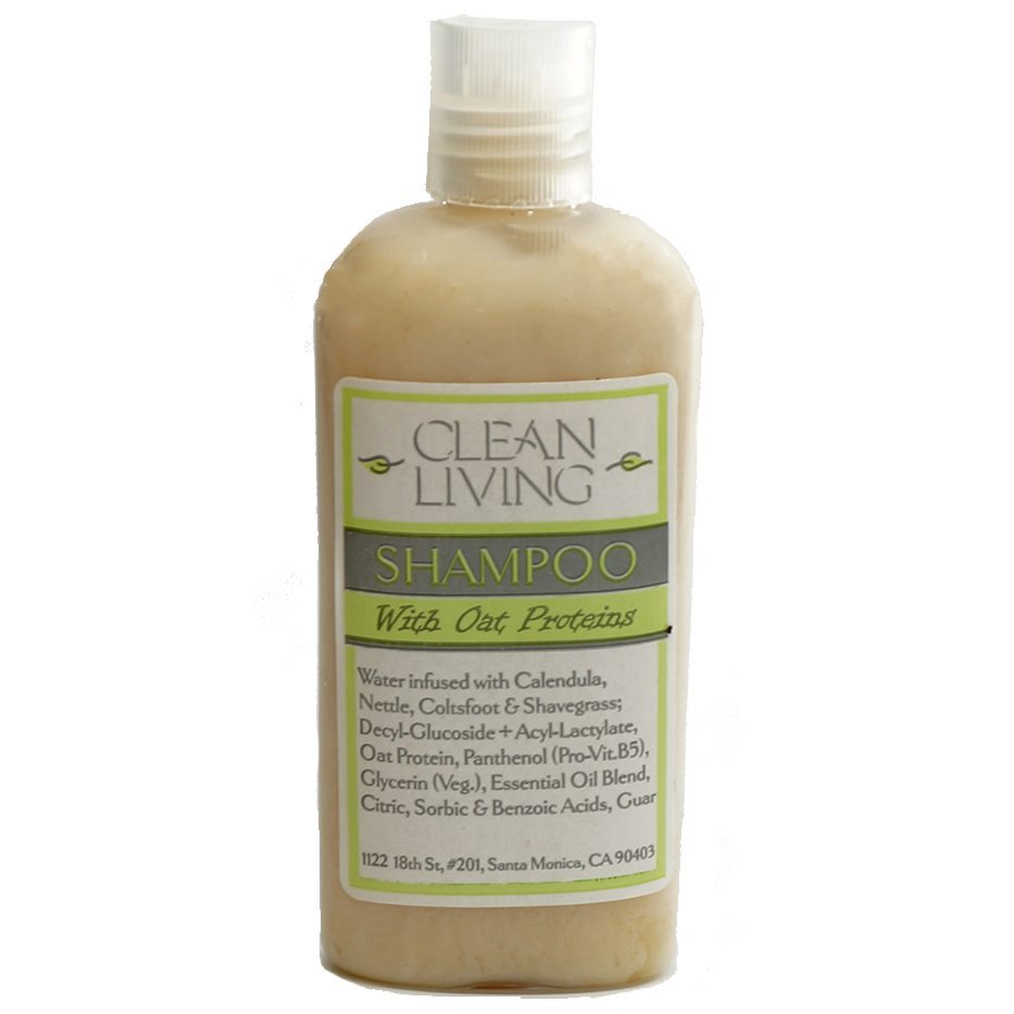 natural shampoo with oat proteins made by Clean Living