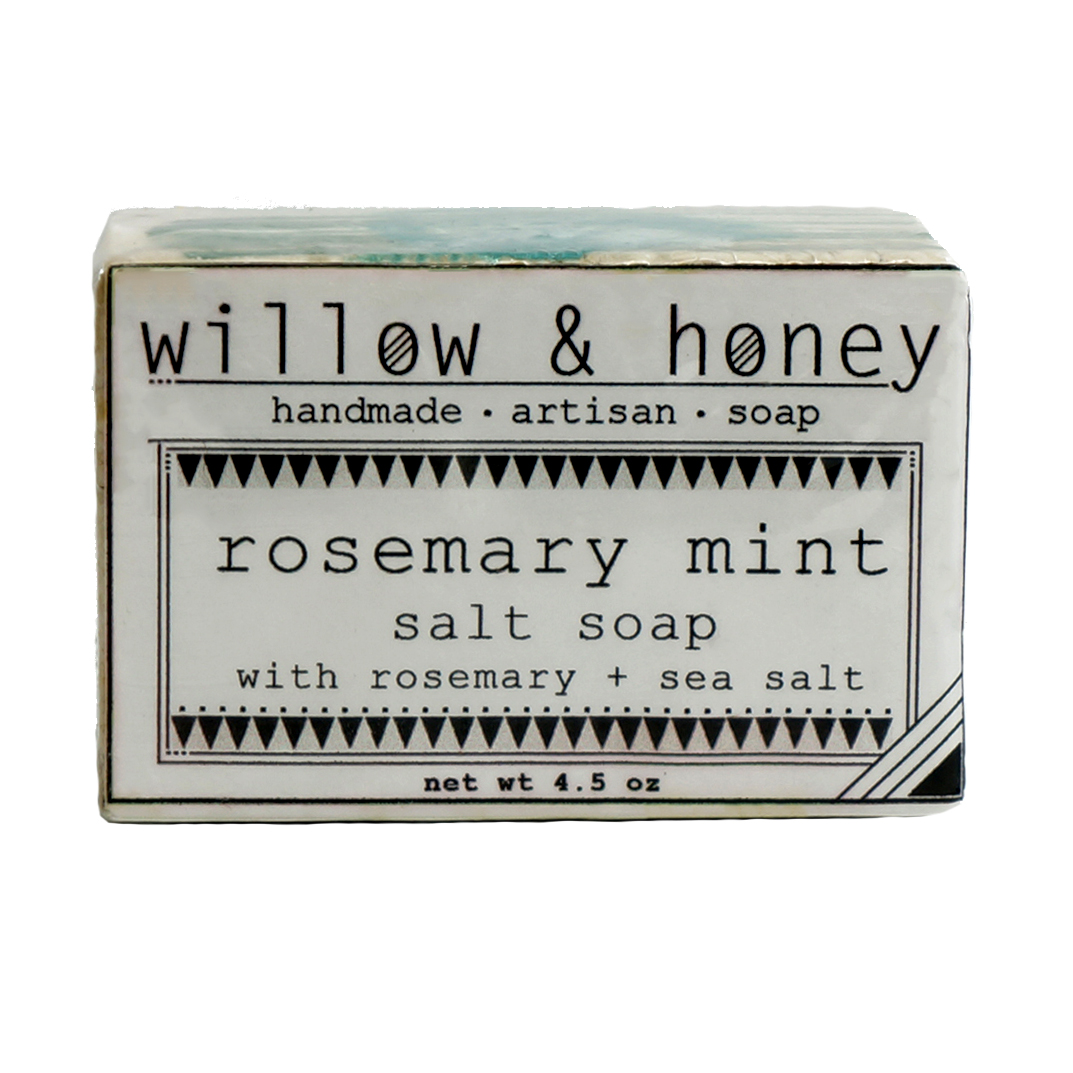 Willow & Honey Rosemary Mint Salt Soap