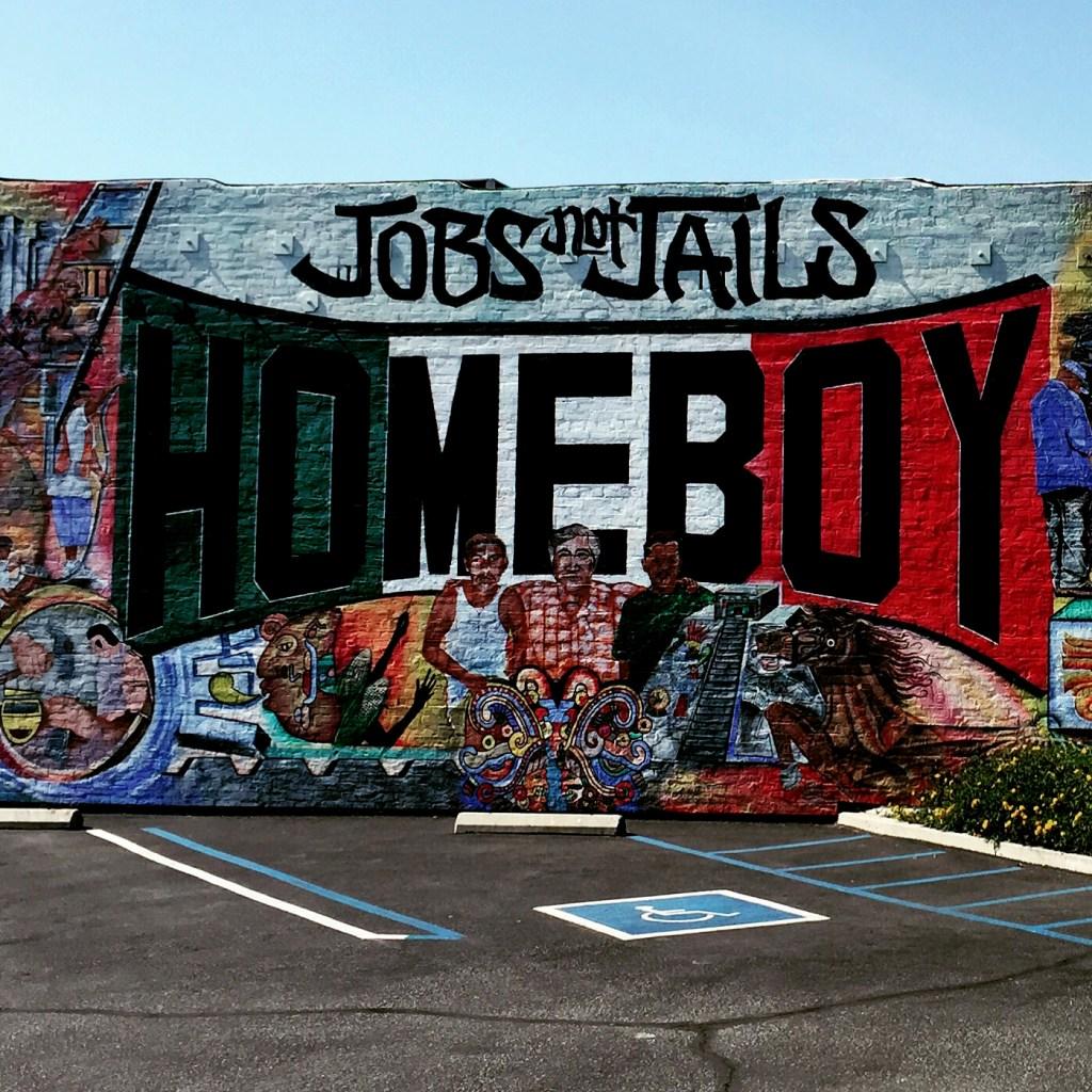 Jobs not Jails - Homebody Industries street art
