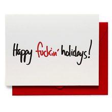 happy fuckin' holidays greeting card