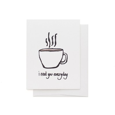 i need coffee everyday greeting card