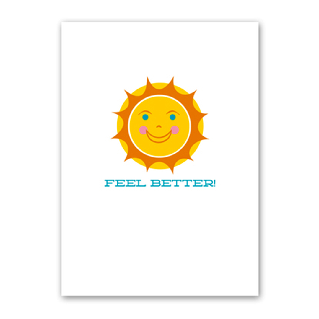 Rock Scissor Paper Feel Better card