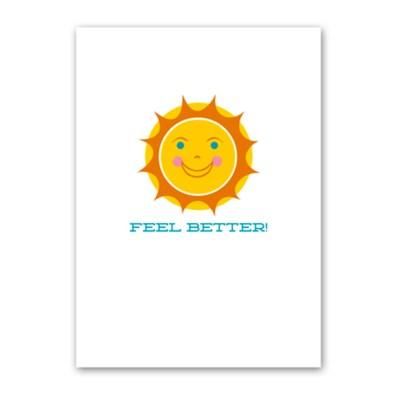 Rock Scissor Paper Feel Better card