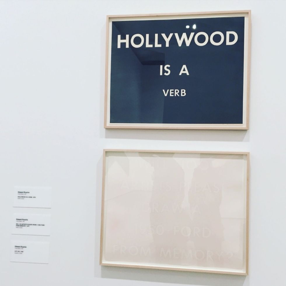 art in the Broad - Hollyẅood is a verb