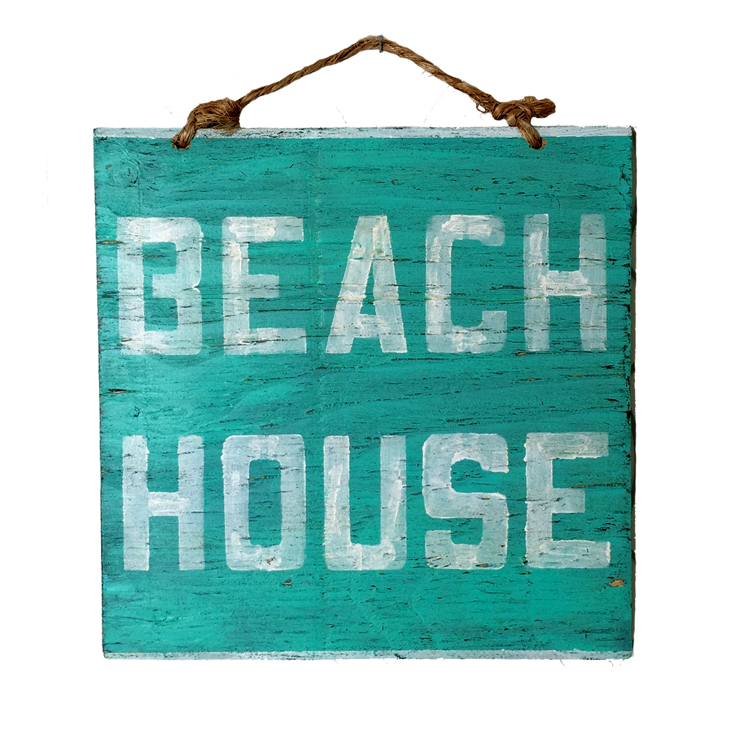 beach house sign from Hollywood & Twine