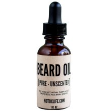 unscented beard oil from No Tox Life
