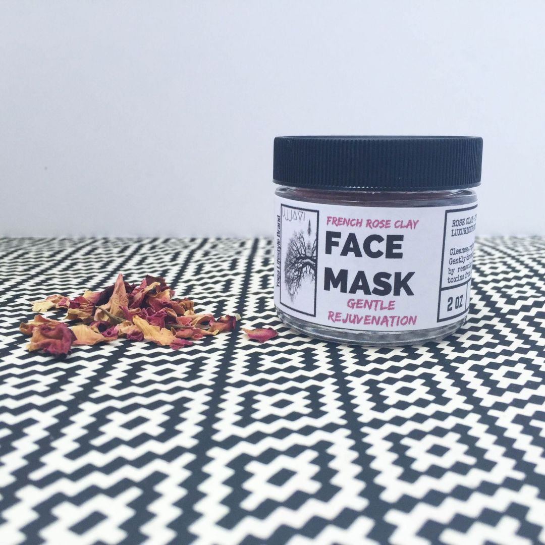 french rose clay face mask