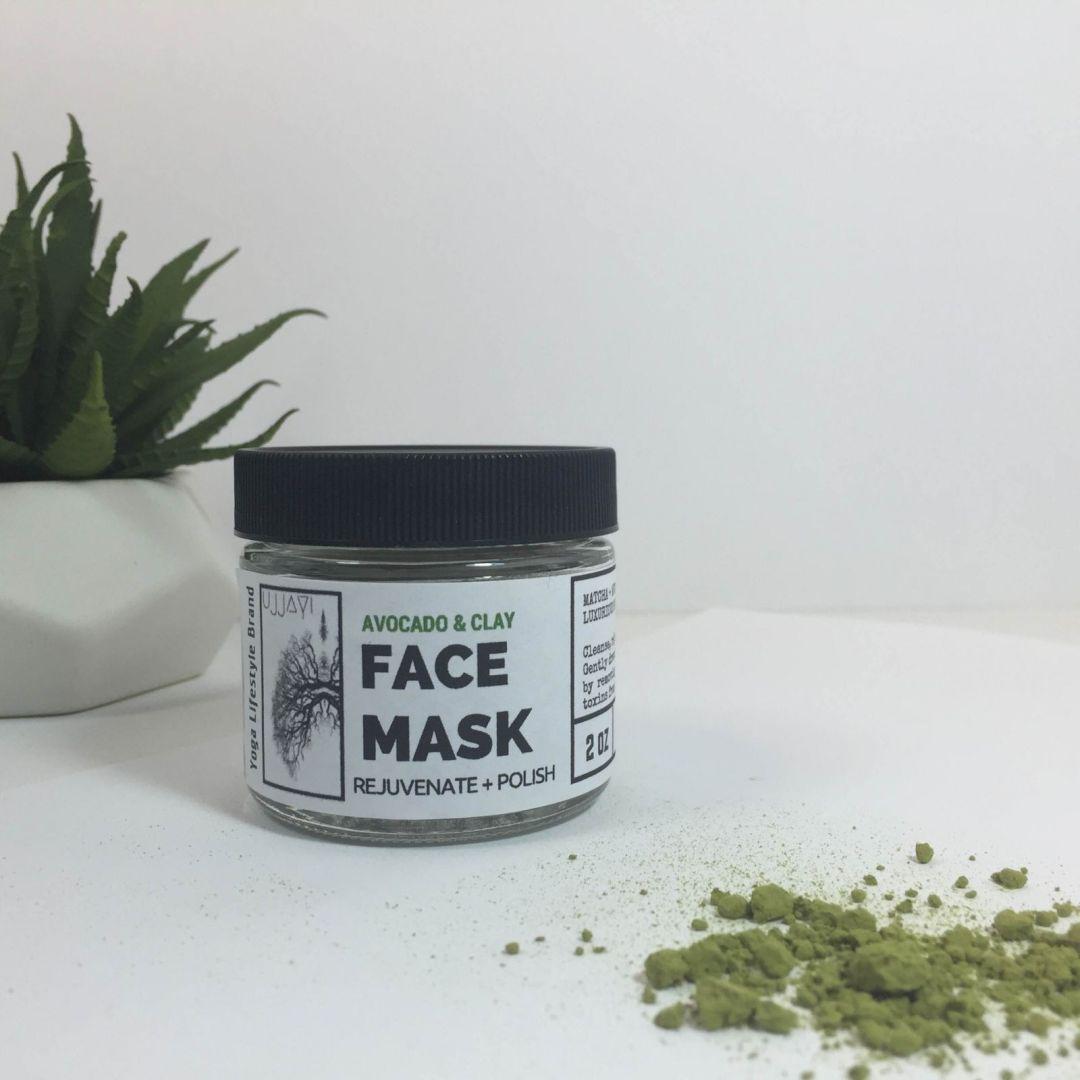 avocado & matcha clay face mask