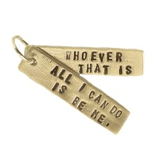 Bob Dylan quote double pendant