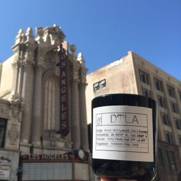 DTLA soy candle by Flores Lane