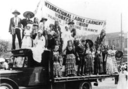 """Under the direction of Israel Feinberg, the Los Angeles ILGWU membership rose from 30 to 2,000 between 1930 and 1935, making it one of the larger unions in Southern California. Part of the growth resulted from the 1933 strike by Latina dressmakers. By 1938 the ILGWU's Spanish-speaking branch had a float in the city's annual Labor Day parade, and Latinas were active within the union."" - Kenneth Burt"