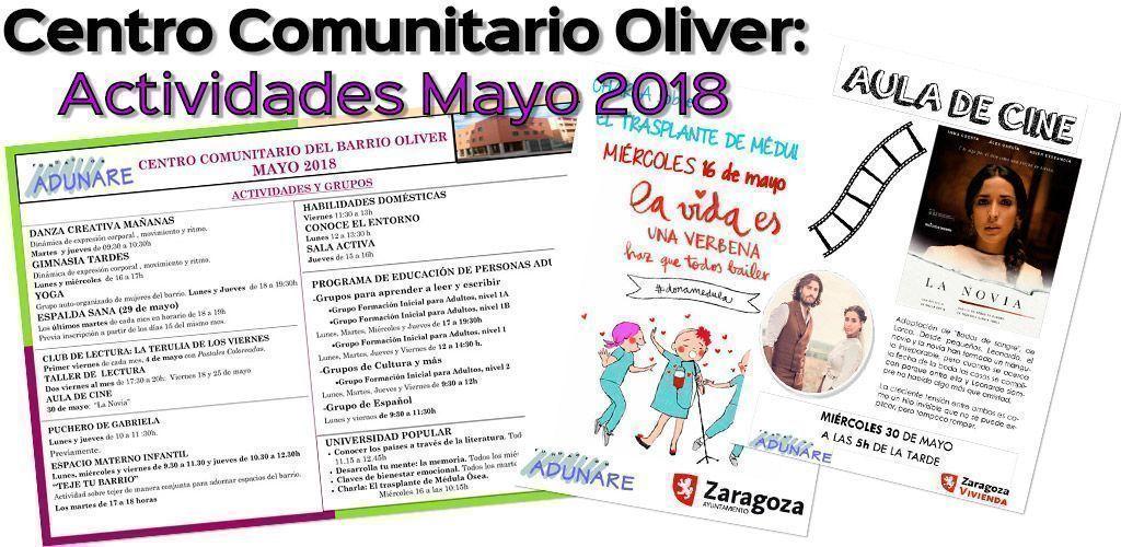 Centro Comunitario Oliver: Actividades Mayo 2018
