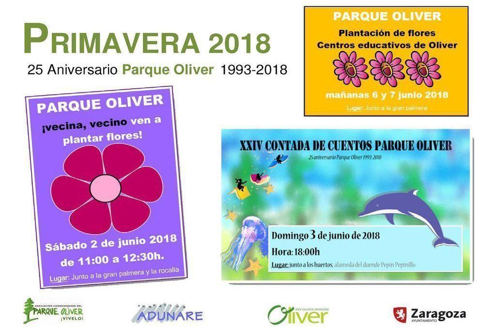 Parque Oliver: Actividades de junio 2018